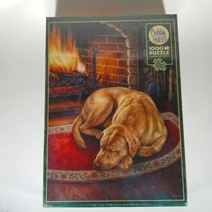 Cobble Hill NIB 1000 piece Puppy by The Fire Puzzle